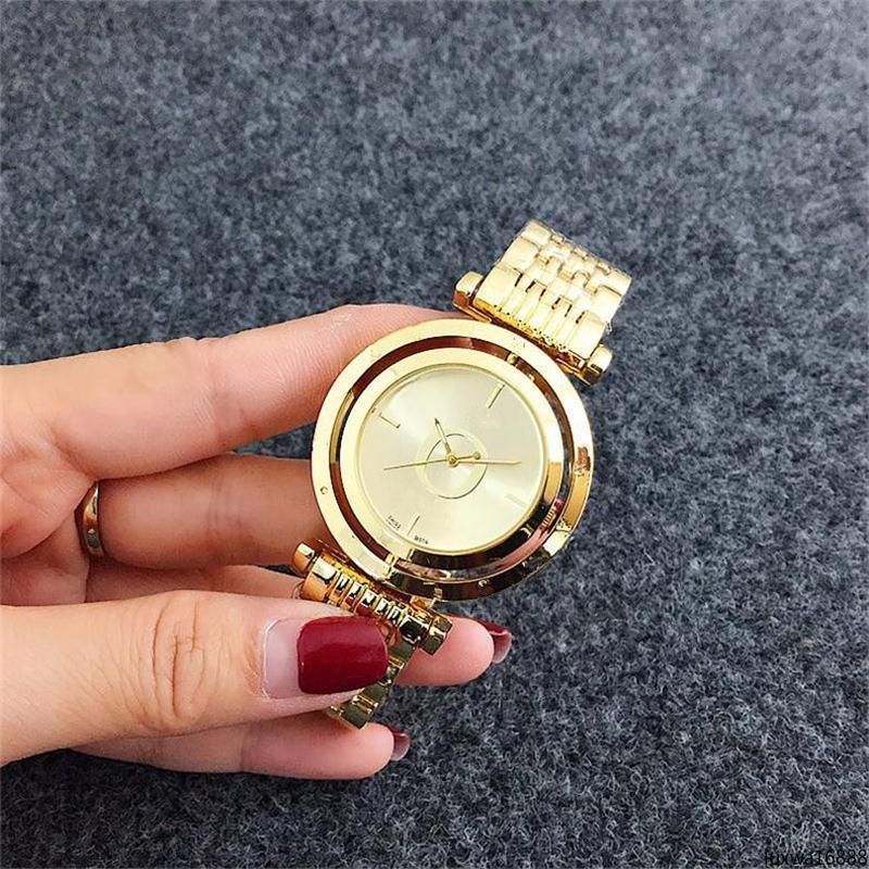 Luxwa16888 Dial Círculo de reloj Dial, casual cuarzo del acero inoxidable mira al por mayor Ultra Thin señoras del diseño simple de mujer de cuarzo reloj de pulsera