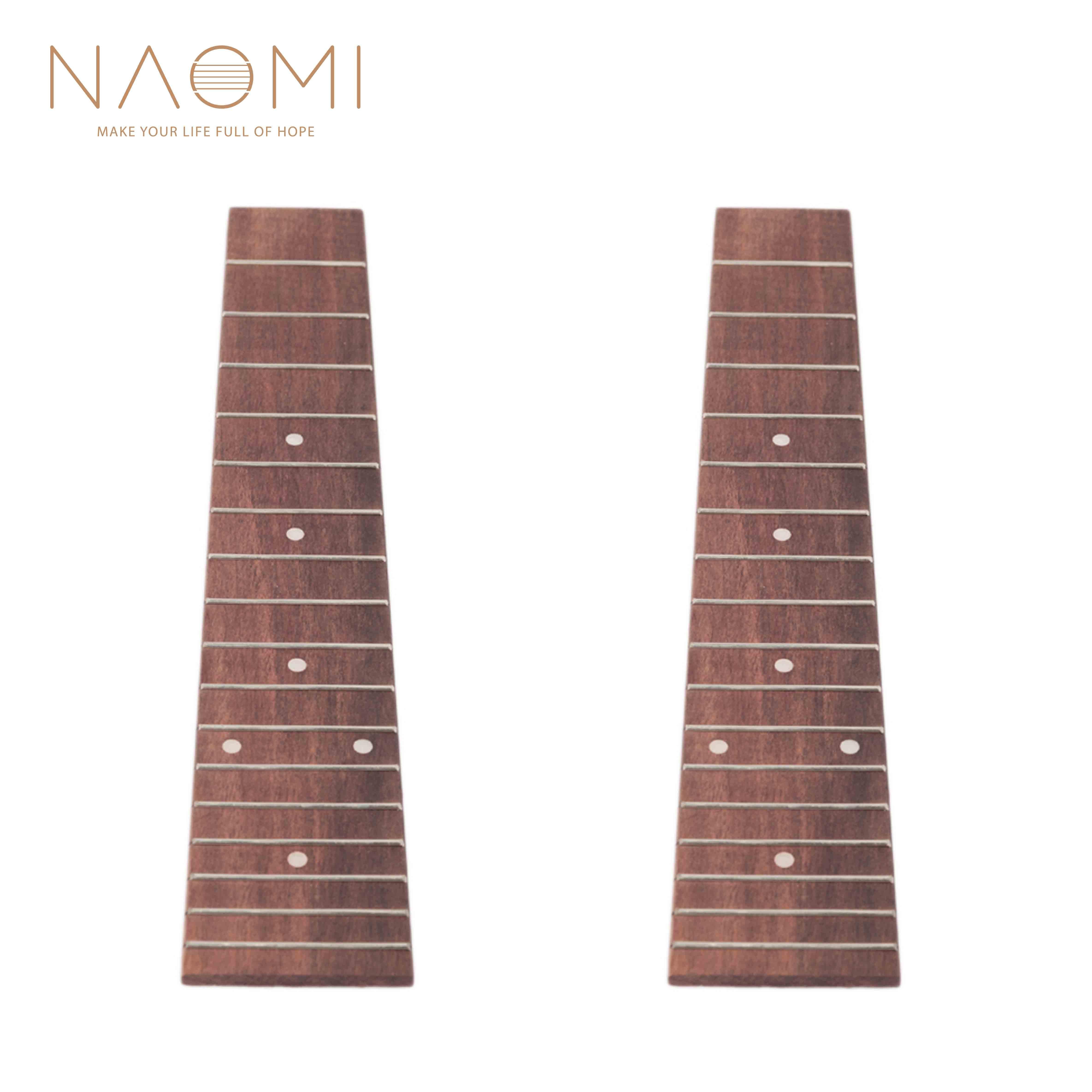 NAOMI 2 Adet Ukulele Fretboard 23 Inç Konser Ukulele Hawaii Gitar Ahşap Klavye Klavye 17 Frets Gitar Parçaları Aksesuarları