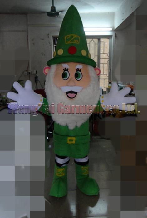 Alta calidad Verde rama de la mascota del carnaval de Santa Claus traje de la actividad del partido desfile Calidad Payasos de Halloween Fantasía envío Outfit