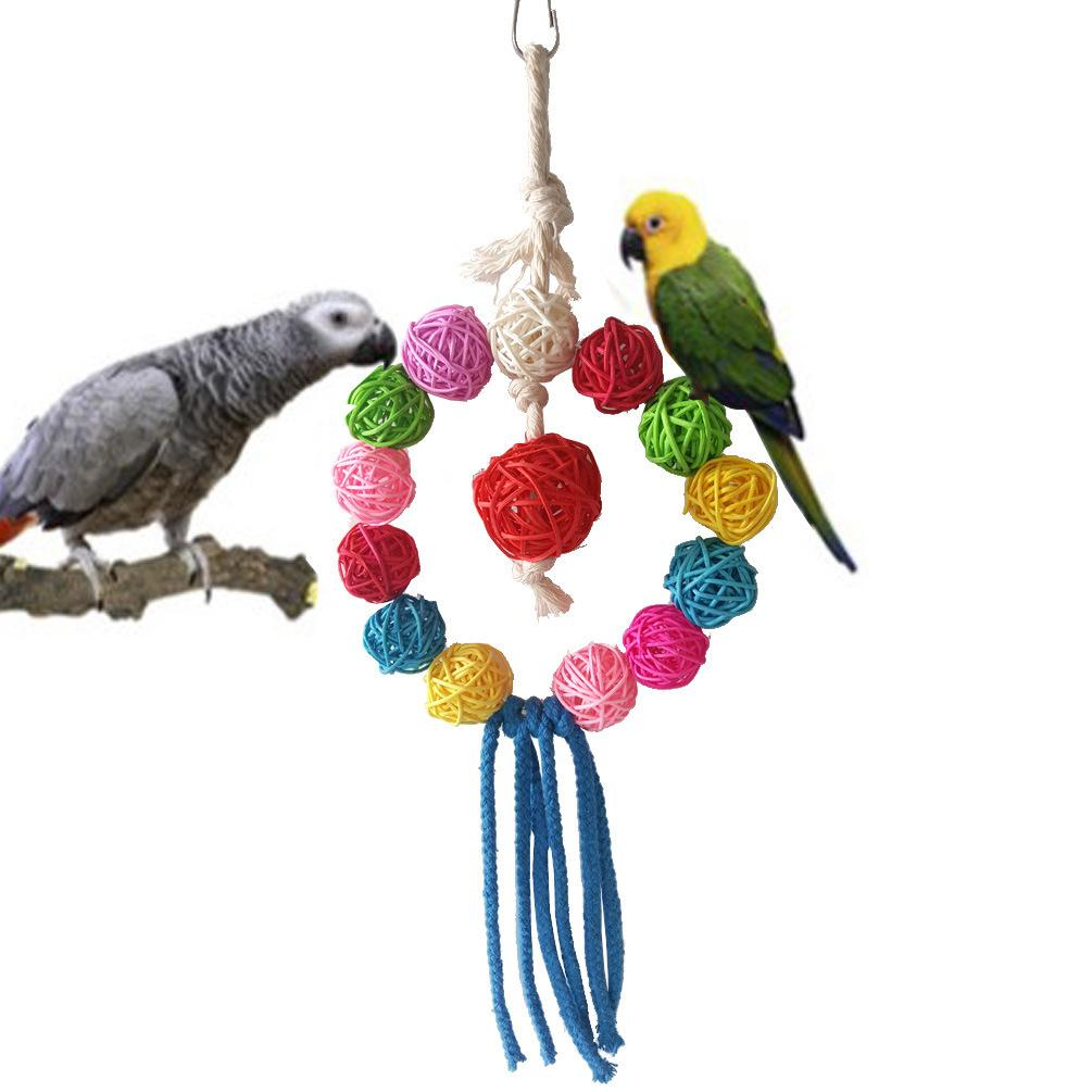 Toys Gnaw To Climb Small Favour And Put Sb. In Important Position Product Colour Sepaktakraw Cotton String String Annular Swing Cage Parts