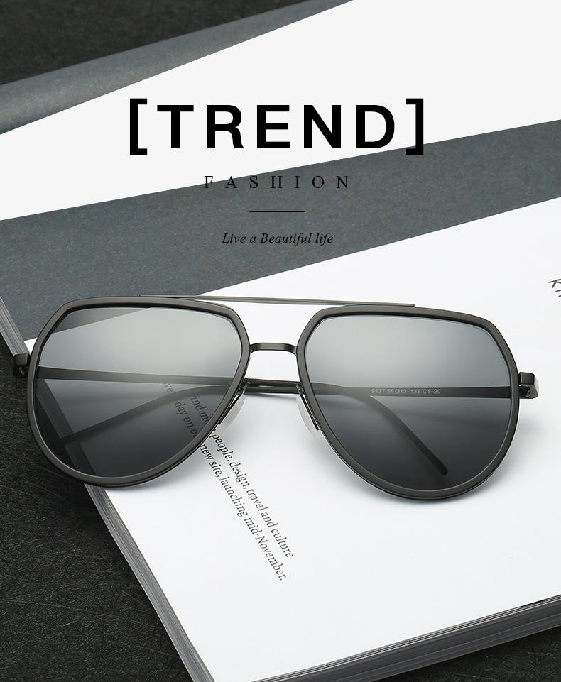 metal de 2020 homens novos do óculos polarizados óculos yurt motorista masculina dirigiu óculos grosso