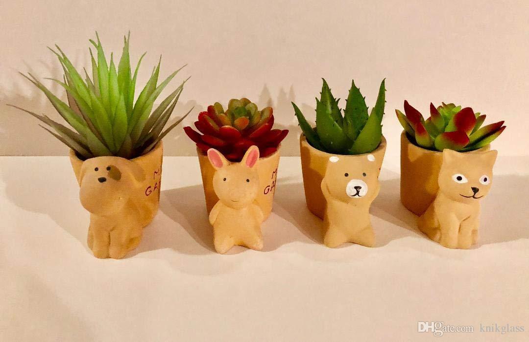 "20 x 6 cm vasi piante piccole in Plastica Terracotta Vaso di Fiori Cactus qualità 2.5/"""