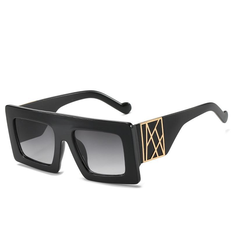 2020 موضة النظارات الشمسية للنساء ورجل كبير جدا ساحة الإطار تريند السيدات الأسود نظارات شمسية UV400