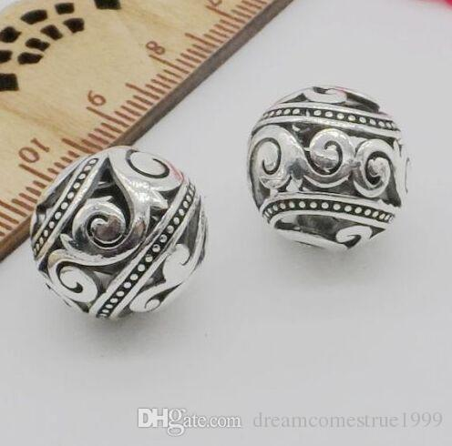 100PCS/lot Tibetan Silver Alloy figure Spacer Beads charms For Jewelry Making 14mm