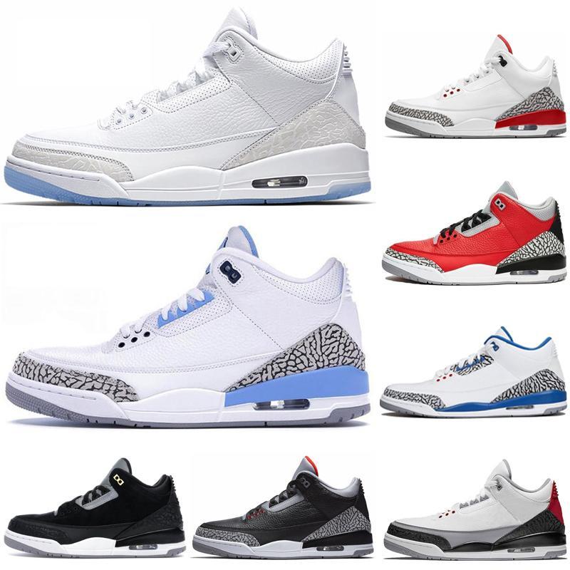 2020 nouveaux hommes UNC chaussures de basket ciment rouge Tinker ciment noir blanc pur formateurs Chlorophylle JTH Hommes Chaussures de sport taille Sneaker US 7-13
