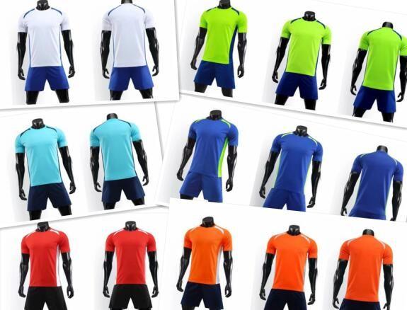 Equipe de futebol personalizado 2019 novas camisas de futebol com Shorts, Formação Jersey Curto, fã loja online loja para venda, roupas de futebol uniforme
