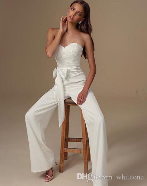 Compre 2019 Elegantes Monos Africanos Vestidos De Novia Vestidos De Novia Sencillos Y Personalizados Vestidos De Novia De Encaje árabe Boho Vestidos