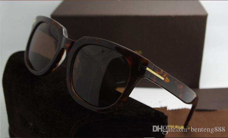 1 unids de lujo superior qualtiy Nueva Moda 211 Tom gafas de sol para hombre mujer Erika Eyewear ford diseñador de la marca gafas de sol con