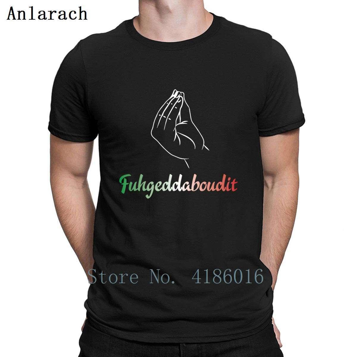 Fuhgeddaboudit Italian Pride Godfather T-Shirt Frühlings-Herbst-Weinlese-Rundhalsausschnitt-Muster-Grafik Short Sleeve Humor 4XL T-Shirt