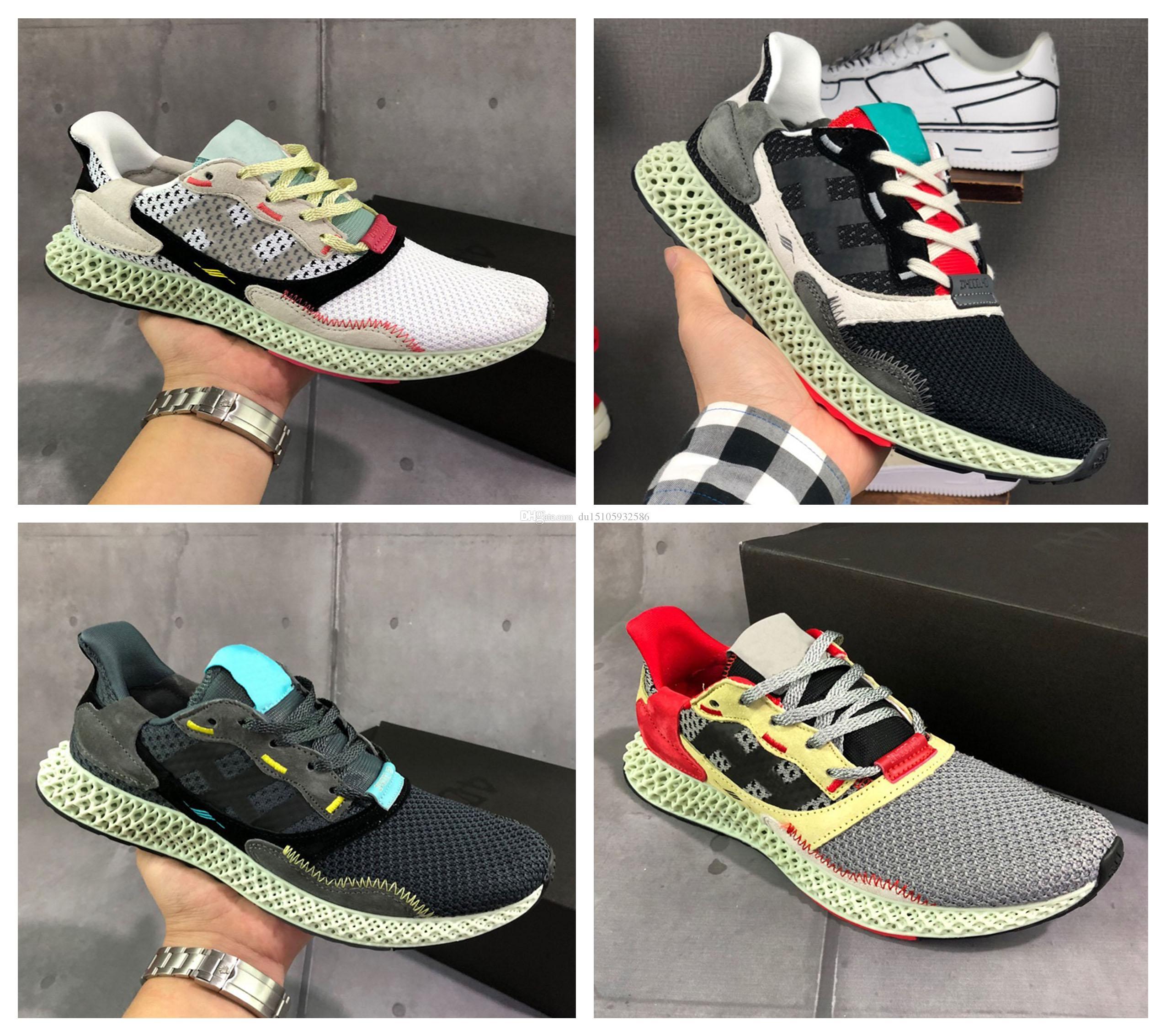 2019 Yeni ZX 4000 Futurecraft 4D erkekler açık koşu ayakkabıları 4D alphaedge y3 orijinal tasarımcı rahat ayakkabılar boyutu 36-45
