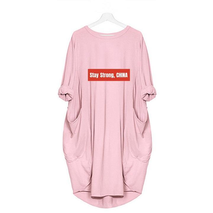 2020 Patlama Elbise kal Güçlü ÇİN Harf Kadın İlkbahar Kadın Uzun Etek Üst düzey Şık yazdır