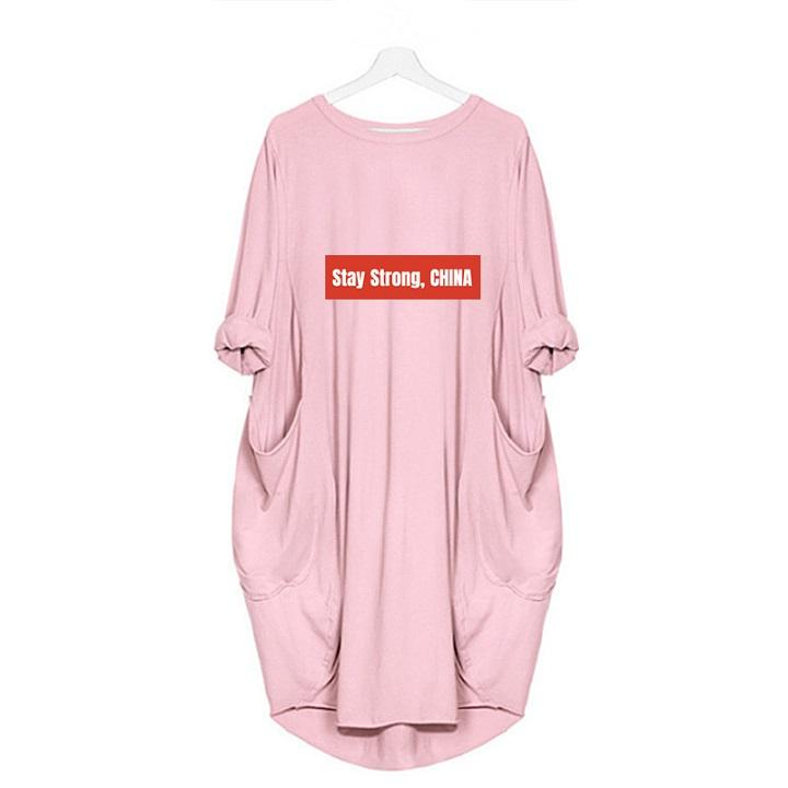 2020 Explosión vestido estadía China fuerte impresión de la letra de la falda larga de gama alta de la primavera de las mujeres de las mujeres elegantes