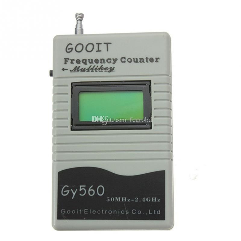 Fcarobd 1pc GY560 Frequenza Contatore Mini Frequenzimetro portatile per ricetrasmettitore radio bidirezionale GSM 50MHz-2.4GHz con display LCD