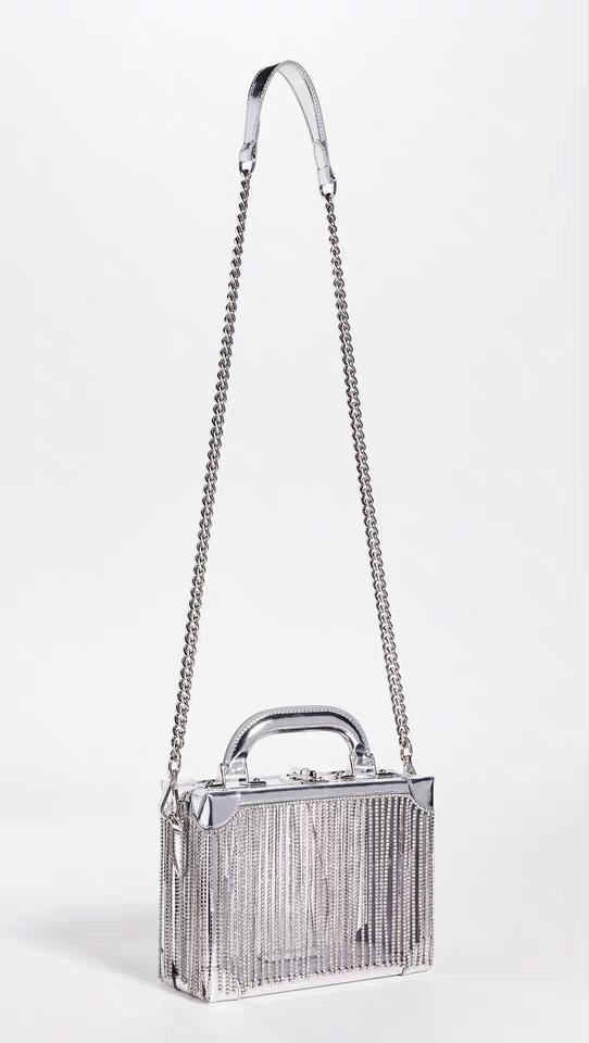 New style women rhinestone tassel blingbling shoulder bags transparent box bags small square bags free shipping