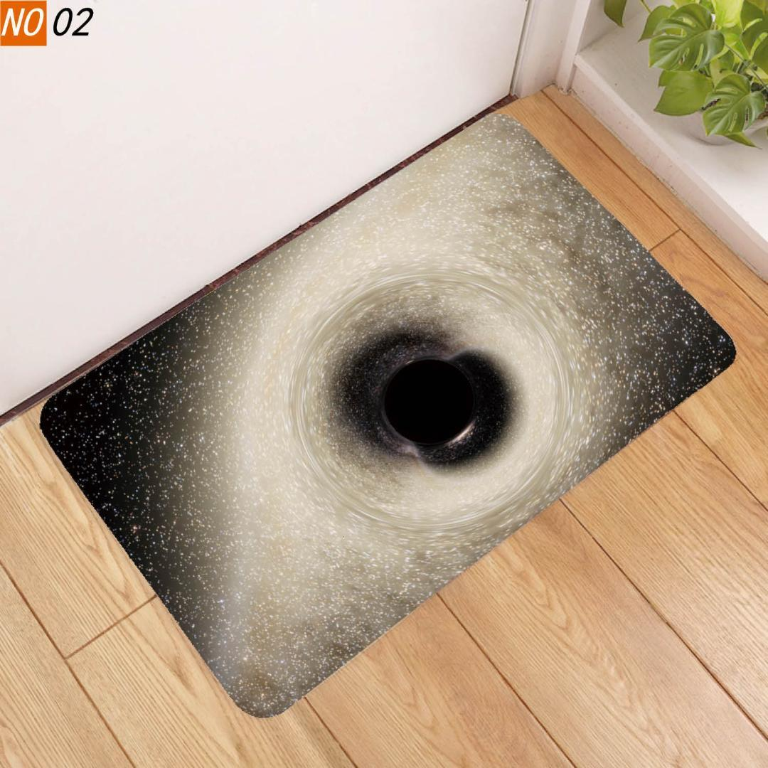 Home Fashion Floor Mat Black Hole Pad Non Slip Originality Christmas Doormat Floor Table Cushion Room Carpet Kitchen Rug Commercial Tile Carpet Places From Copy03 27 88 Dhgate Com
