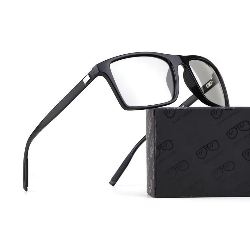 Fotocromáticas Óculos Homens Mulheres aluminun óculos de sol para Man Driving Transição Anti Reflexiva UV400