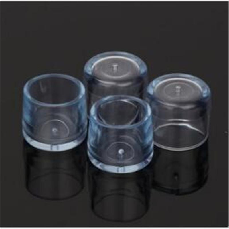 4 gambe set Sedia di gomma della copertura trasparente di silice gomma di plastica per pavimenti Cappelli protezioni in plastica per la sedia Gambe Calze di alta qualità
