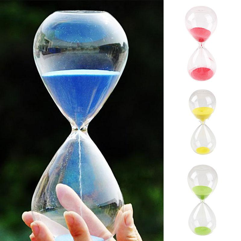 Regalos de reloj de arena temporizador colorido Diseñado regalo amarillo sandía roja del reloj del reloj de juguete Decoración 5 minutos temporizador Escritorio Decoración Aficiones