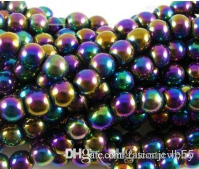 10mm Fasion Renkli Hematit Gevşek top Boncuk kristal Bulguları için Fit DIY Bilezik Boncuk bilezik hotsale DIY Bulguları takı
