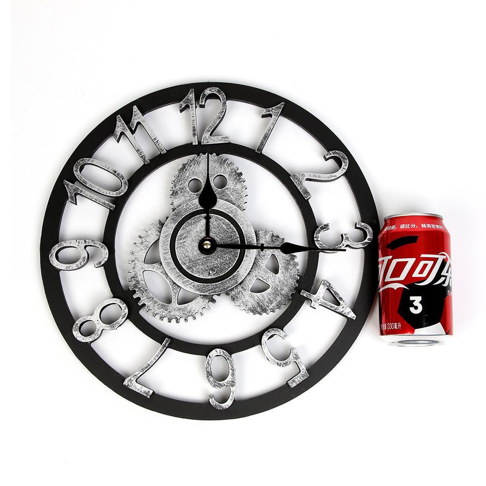 horloge murale rétro vintage équipement européen de luxe en bois horloge murale horloge murale romaine pour la conception numérique décoration salon de la maison T200104
