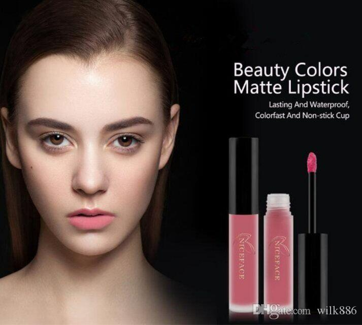 NICEFACE Matte Liquid Lip Stick Kits 3pcs/lot Lipstick Sets Long-Lasting Makeup Waterproof Velvet Batom Nude Lip Gloss Cosmetics