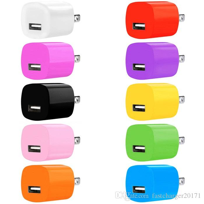 아이폰 5 6 7 8 × 삼성 갤럭시 S6 S7 가장자리 안드로이드 전화의 MP3 플레이어를위한 5V 1A 1000MAH 미국 행 홈 여행 벽 충전기 전원 어댑터