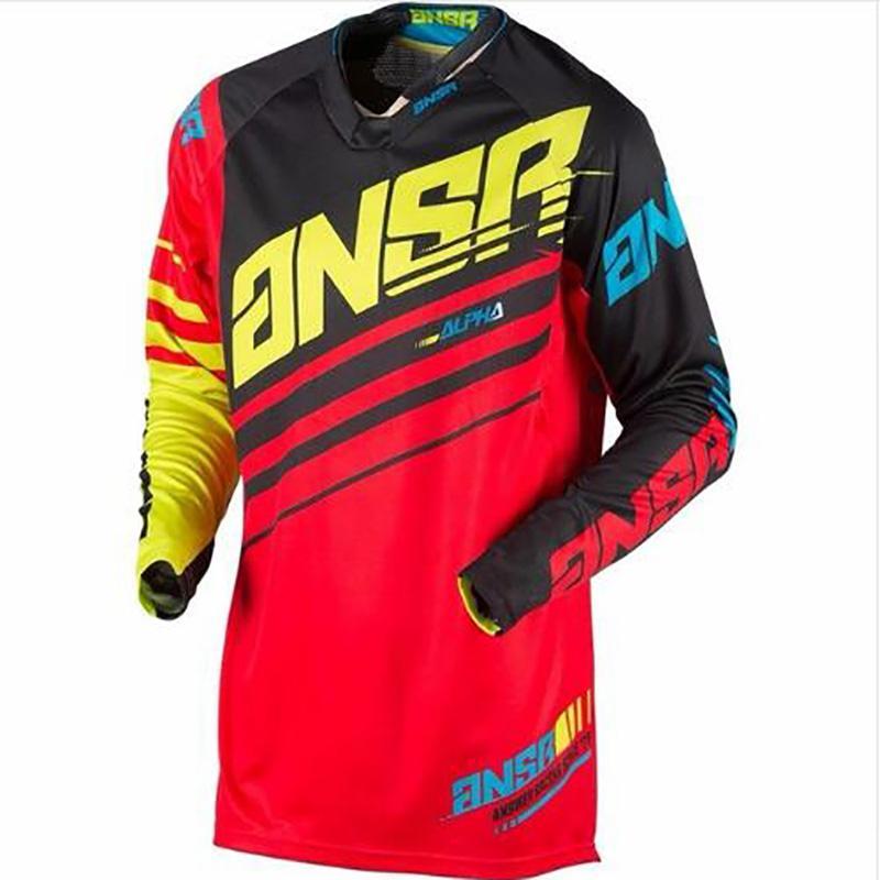 2020 vêtements ANSR t-shirt hors route du cycle moto usure vélo moto gp vtt descente équipement cycliste XXXL croix homme