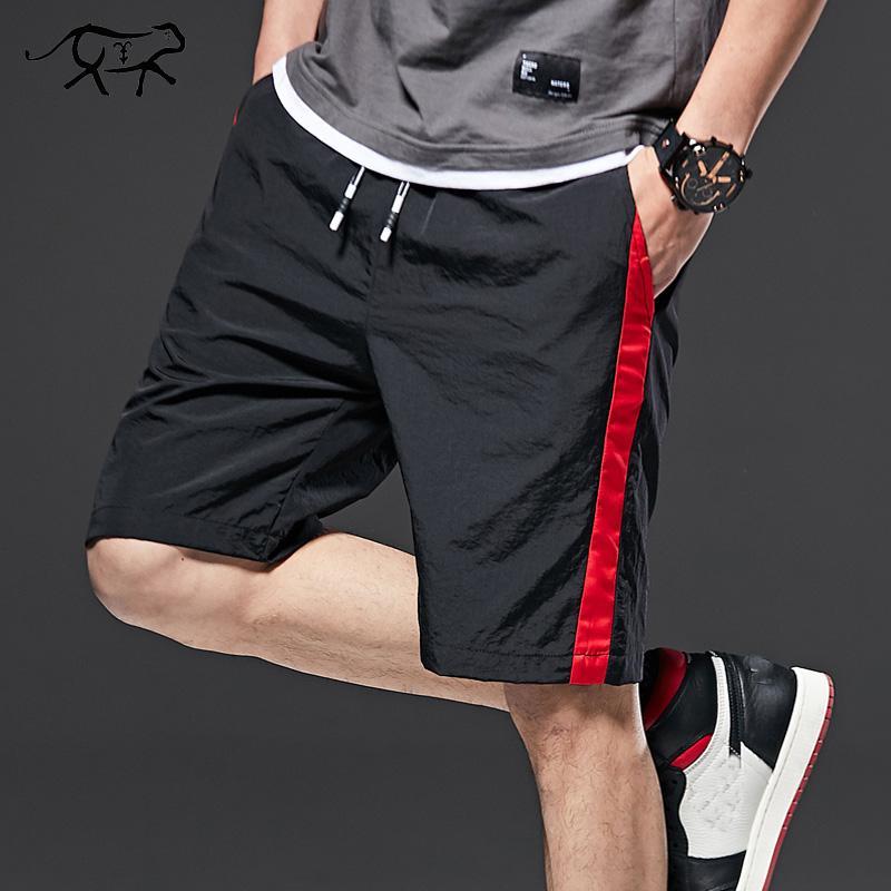 Verano de los hombres casual pantalones cortos para hombres a estrenar pantalones cortos 2019 de secado rápido transpirable sólido elástico de la cintura manera ocasional corto M-8XL