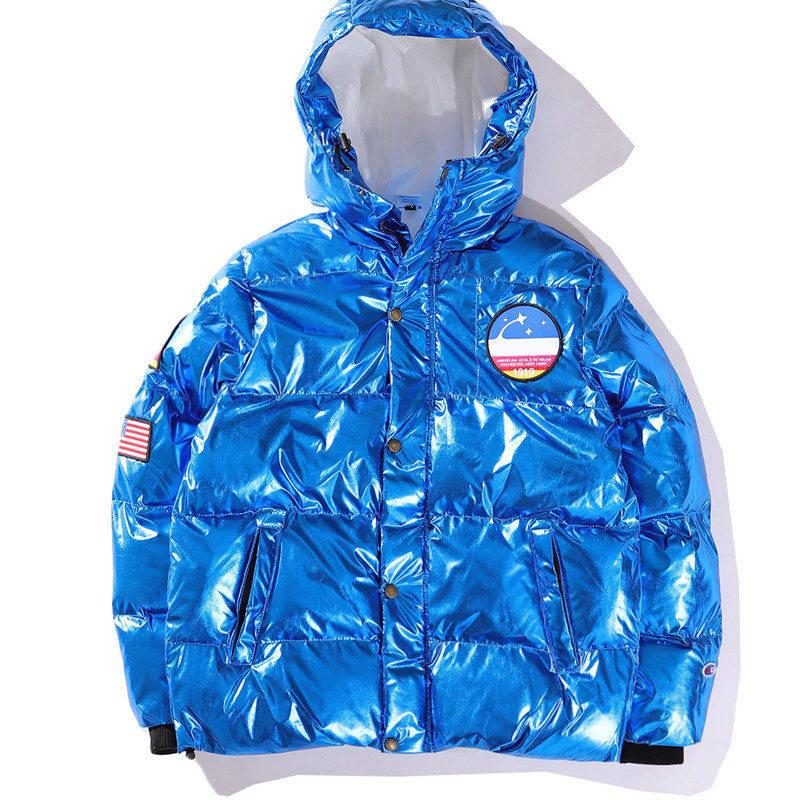 Hommes Marque Designer Vestes D'hiver Windbreaker Vêtements Pour Hommes Réfléchissant Argent Or Hoodie Vestes High Street De Luxe Hommes Vestes B100326K