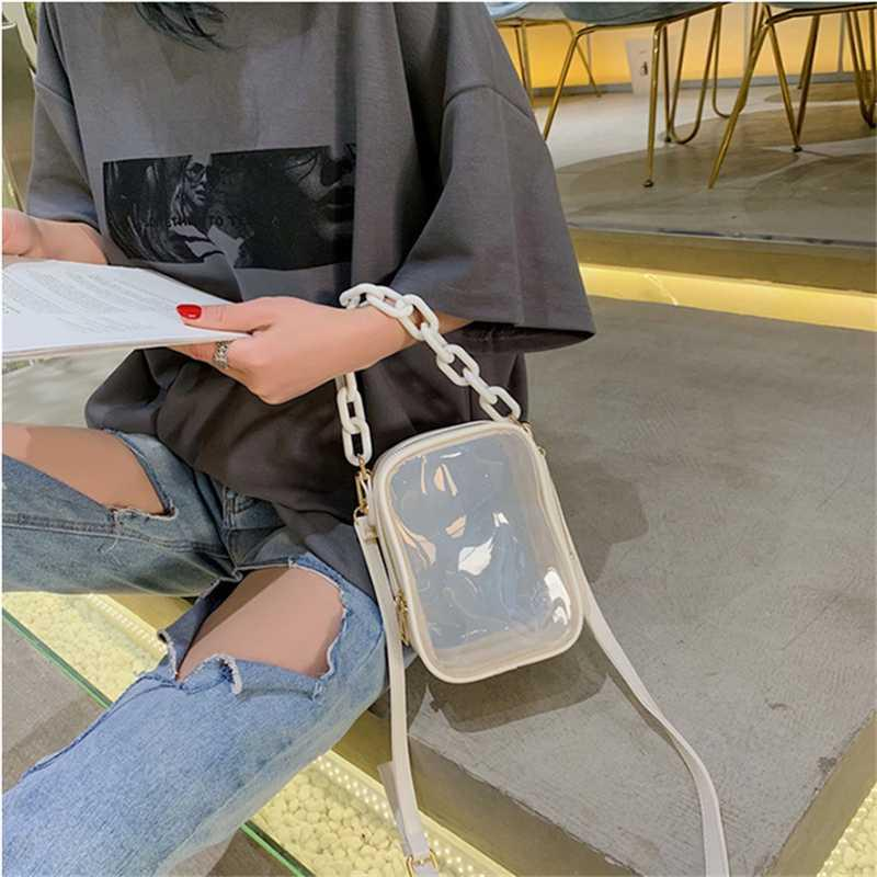 Women Mini Clear Small Square Pack Summer Transparent Shoulder Bag Plastic Crossbody Bag Acrylic Beach Bags Purse Clutch Handbag