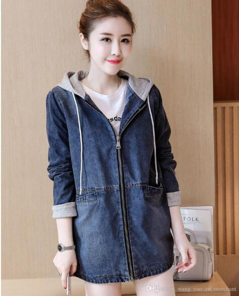 Woman spring and autumn han edition high-quality goods special price tide new style outdoor loose joker takes hat cowboy coat / S-2XL