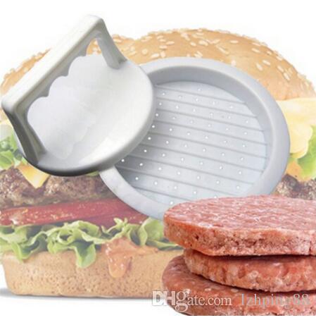 1 Set Round Shape Hamburger Press Food-Grade Plastic Hamburger Meat Beef Grill Burger Press Patty Maker Mold Mould Kitchen Tool