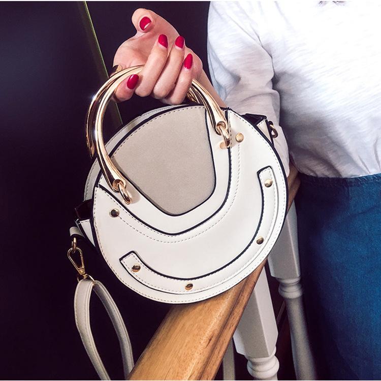 Big Sale 2019 New Package Embroidery Cat Small Round Bag Korean Version Cute Handbag Fashion Chain Shoulder Bag Messenger Bag