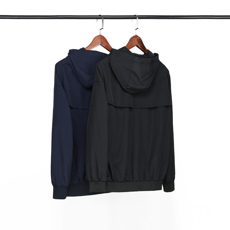 Novo Designer de Moda Marca Pure Color Mens Jaquetas Esportivas Windbreaker Outwearing Inverno Autunm Queda Tops de Qualidade LSY98263902352