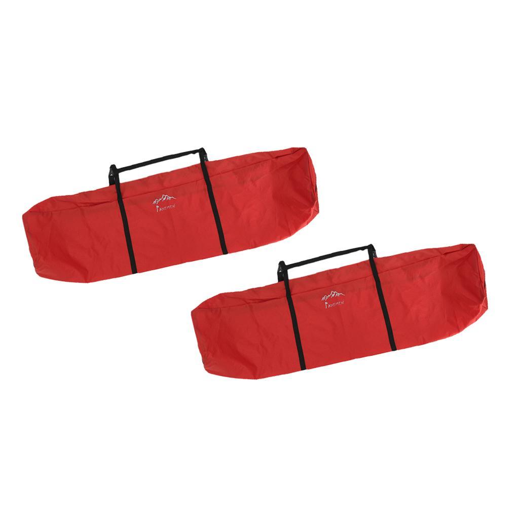 2pcs Большие сумки для палатки кемпинга Организатор Молнии хранения, Складная Таблица переноски, рыболовные снасти Carrier, портативный