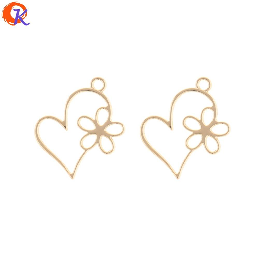 wholesale 200Pcs 19*16MM Jewelry Making/Earring Connectors/Flower Heart Shape/DIY Accessories/Hand Made/Earring Findings