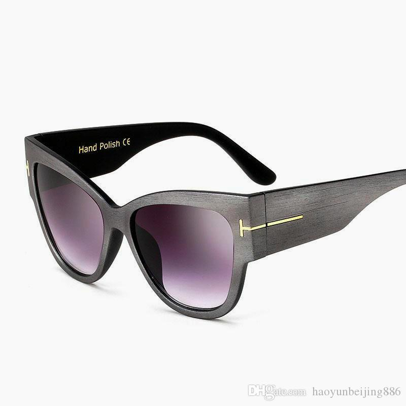 New Gradientenpunkte Katzenauge-Frauen-Sonnenbrille Tom High Fashion Sonnenbrillen Weibliche Cateyes Sonnenbrille Frauen-Marken-Designer Oculos