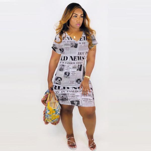 Été 2020 slant épaules des femmes robes amples monogrammés