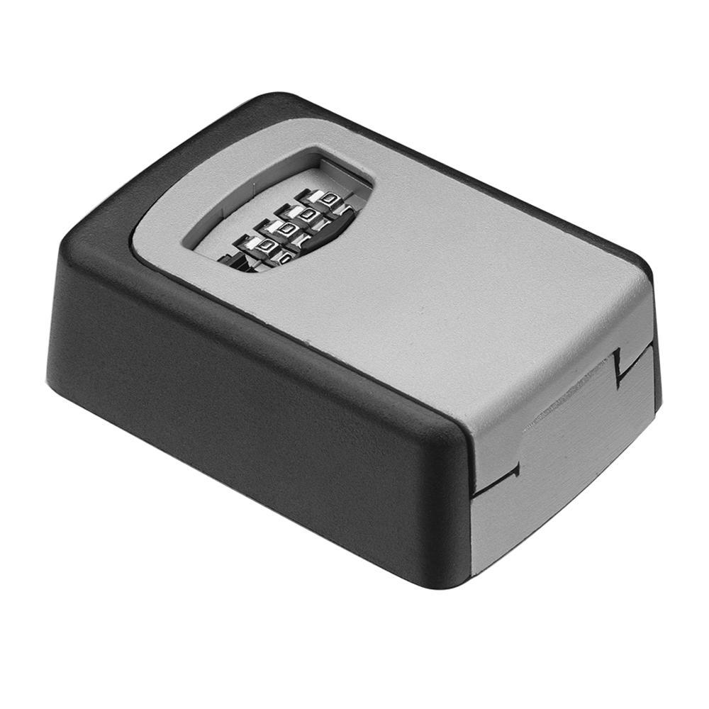 4-Digit Combination Lock Outdoor Key Storage Box Wall Mounted Lock Box Wall Mounted Key Safe Box/Security Key Holder