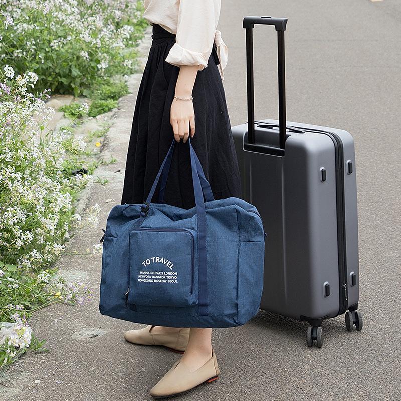 2020 bolsas de viaje multifuncional bolsa de lona grande del bolso plegable bolsas de equipaje de las mujeres a prueba de agua bolsa de almacenamiento con zapatos de la bolsa