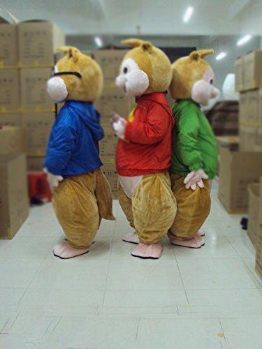 2018 Fabrika doğrudan satış Güzel Brown Alvin ve Sincaplar Faresi Sıçan çizgili sincap Maskot Kostüm Mascotte