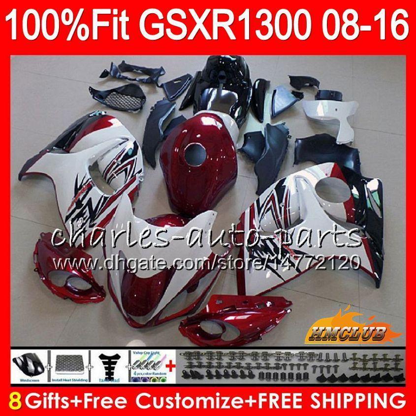 Iniezione per SUZUKI GSXR1300 Hayabusa 08 09 10 2008 2009 2010 25HC.8 GSXR 1300 stock rosso scuro GSXR-1300 11 12 13 2011 2012 2013 Carenatura OEM
