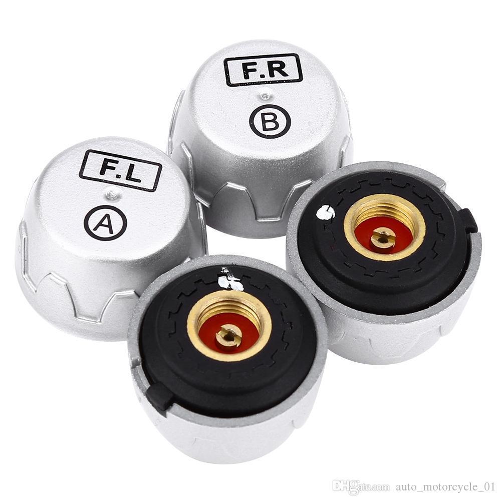 TP880 Auto TPMS Solar Energy Tire Pressure Monitoring System Car Tyre Temperature Alarm 4 External Sensors LED Anti-Theffree Free Shipping