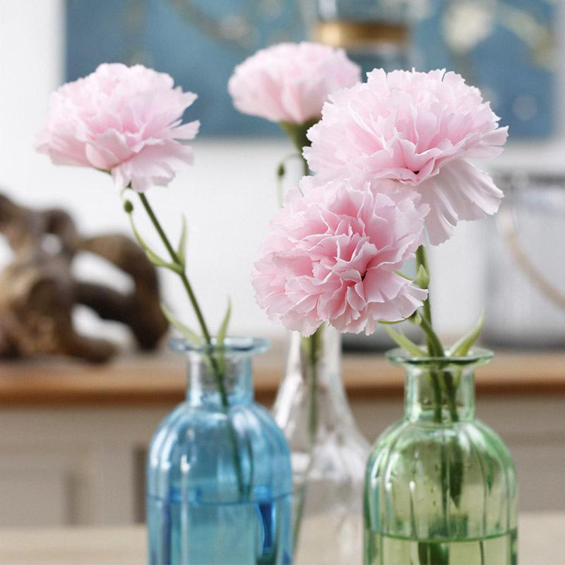 1pc Carnation Artificial Flowers Mother's Day Gift Plastic Flowers For Scrapbooking Silk Flowers For A Wedding Decoration A7640
