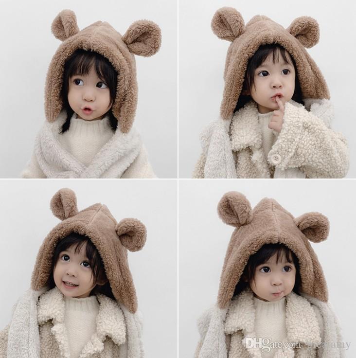 2-8 ans Enfants Bébé Chapeaux Garçons Filles Bonnet hiver chaud Chapeau mignon de lapin oreille Chapeau cache-oreilles confortable Toison d'enfant enfant en bas âge Cap
