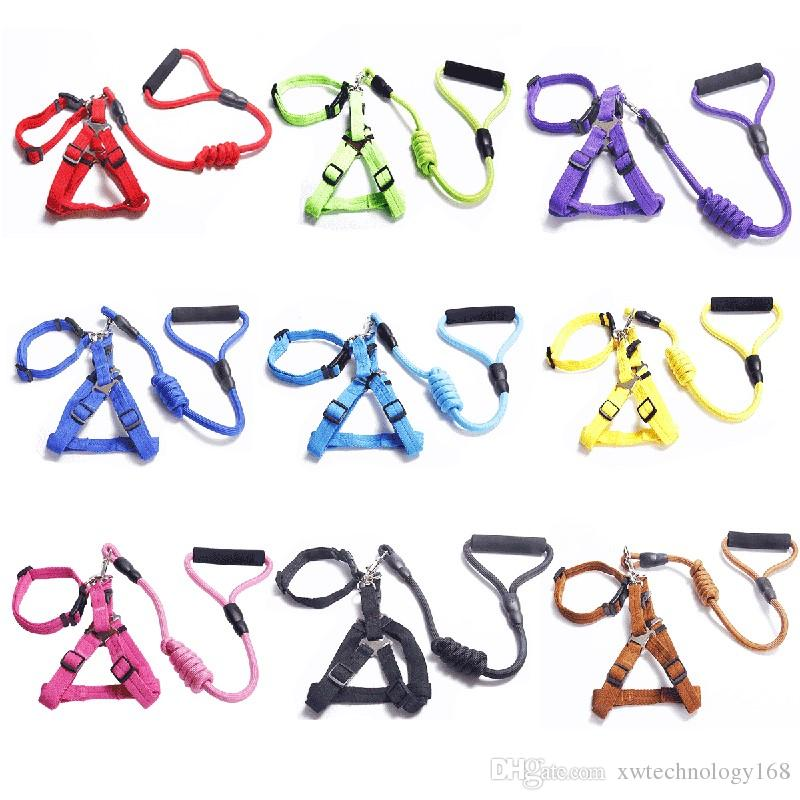 Quality Pet Dog Chest Strap Traction Rope Set Soft Front Dog Harness Pet Chest Strap Leash Free Shipping