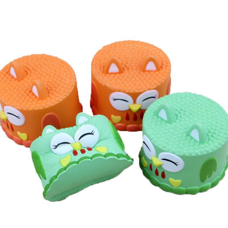 NUEVA búho Pastel Desempaquetar el juguete blando lento aumento de estrés Niños Adultos Juguete fruta linda Teléfono correas regalo