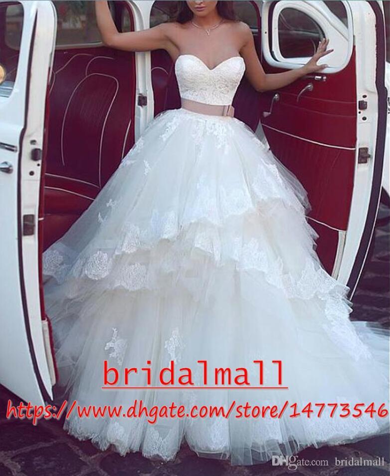 Vestidos De Novia Vintage 2019 apliques De tul africano Vestidos De novia fuera del hombro Vestidos De novia De talla grande jardín playa vestido De novia