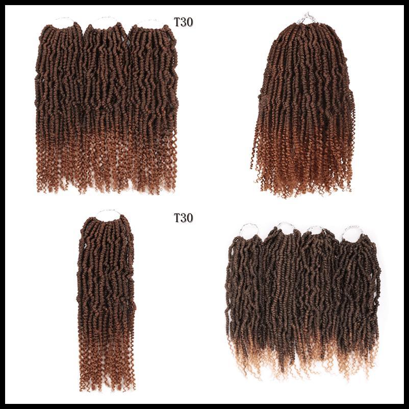 Passione Crochet Twist lunghi Best Hair for Passion Twist Crochet estensioni dei capelli sintetici tessuto dei capelli 14inch tessuto dell'acqua Whoelsale Dhgate