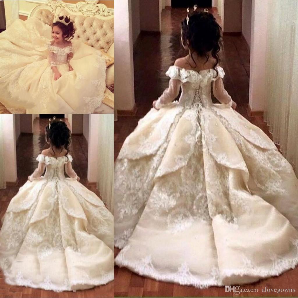 Acheter Vintage Princesse Fleur Fille Robes